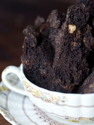 """Find this chocolate lavender biscotti recipe in """"Cooking"""