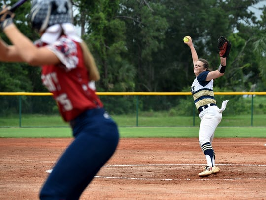 Aucilla Christian Academy starting pitcher Abigail