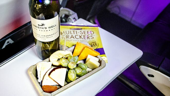 Virgin America refreshes its wine offerings quarterly.