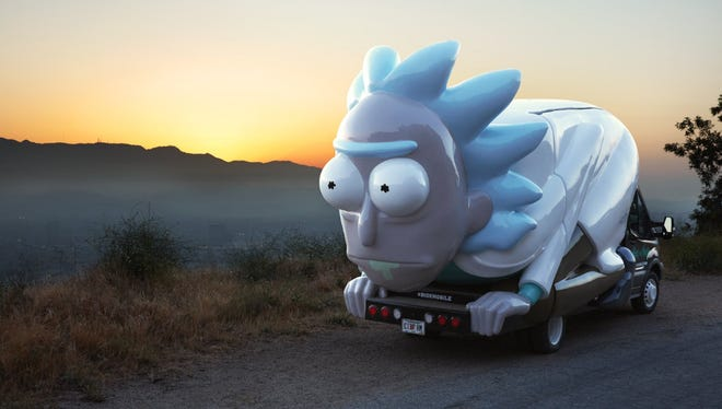 "The Rickmobile is a mobile store promoting Adult Swim's animated TV show, ""Rick and Morty."""