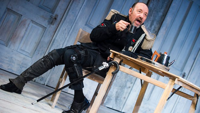Kevin Spacey appears as Richard III at the Old Vic Theatre in London in June 2011.