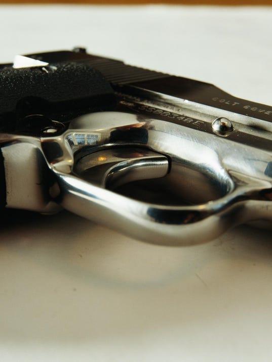 Handgun, close-up