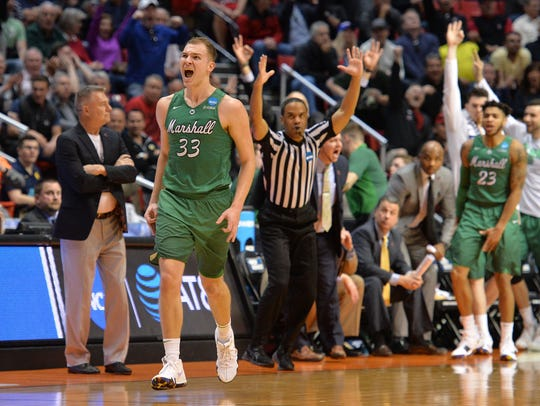 Marshall Thundering Herd guard Jon Elmore says the