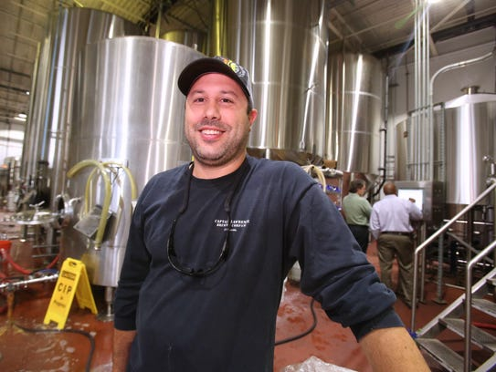 Brewer-owner Scott Vaccaro at the Captain Lawrence