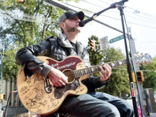 Josh Morningstar performs at AppleFest in Chambersburg on Saturday, October 18, 2014.
