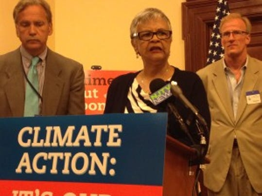 Asssemblywoman Bonnie Watson Coleman at event on carbon reduction