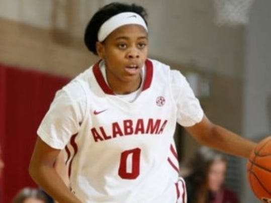 Daisha Simmons has only been granted a partial release to transfer by Alabama, which was under the impression that the former Rutgers guard would be returning for her final season of eligibility. (Courtesy of Montgomery Advertiser)