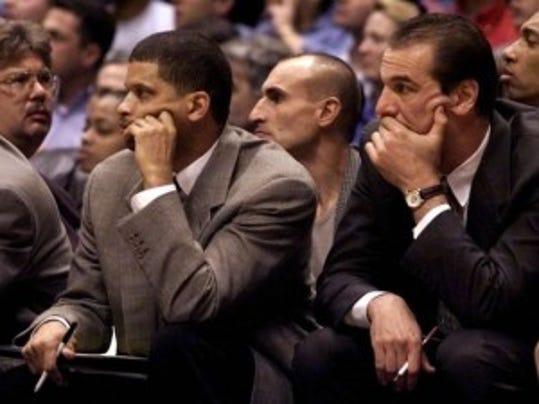 Eddie Jordan and Mike O'Koren as Nets assistants