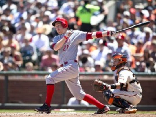 Toms River native Todd Frazier entered the weekend batting .289 with 17 homers and 48 RBI for the Cincinnati Reds. Now he will represent the National League in the MLB Home Run Derby. (Getty Images)