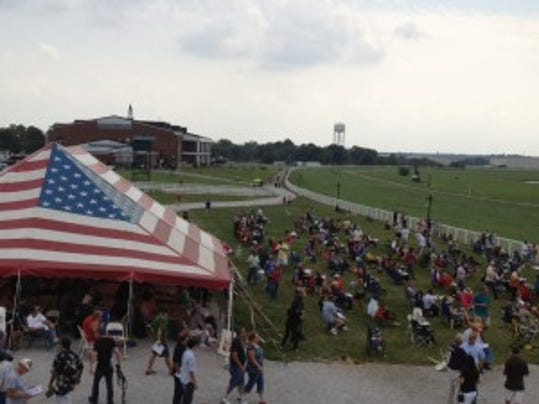 Kentucky Downs features a European-style turf course and a fair atmosphere.
