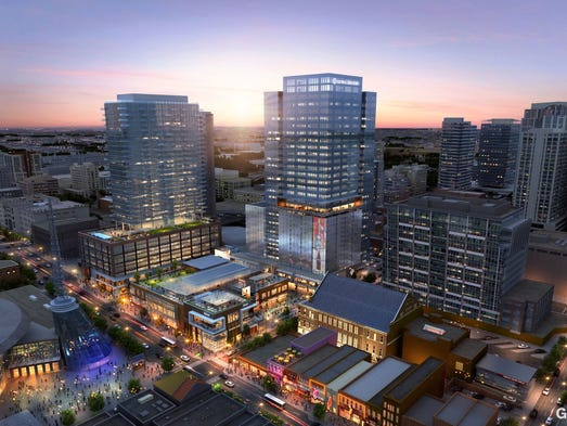 This rendering shows what the Nashville skyline could