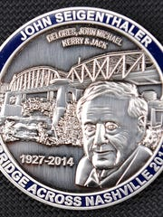 A special-edition coin honors John Seigenthaler.