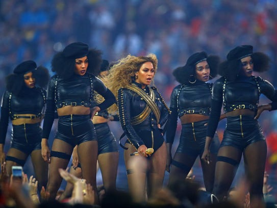 Beyoncé performs during Super Bowl 50's halftime show