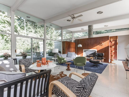 The open plan affords the shared living space an airy