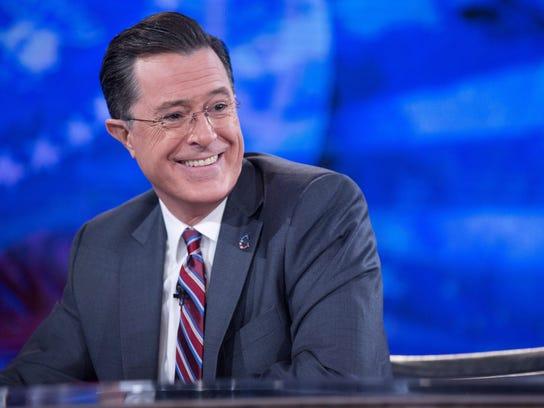 """The Colbert Report,"" starring Stephen Colbert, has"