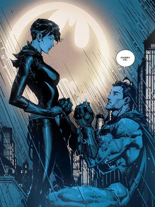 39fedf89b73f Batman proposes to Catwoman in the new issue of DC Comics   Batman.   (Photo  David Finch