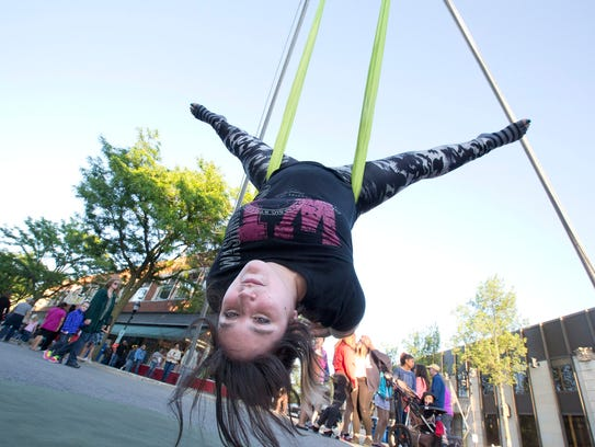 Mary Oyervides, an Aerial Yoga instructor at Reaching
