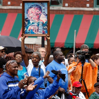 A tribute for blues musician B.B. King is held today