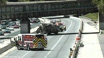 A crash has closed I-95 south at U.S. 202.