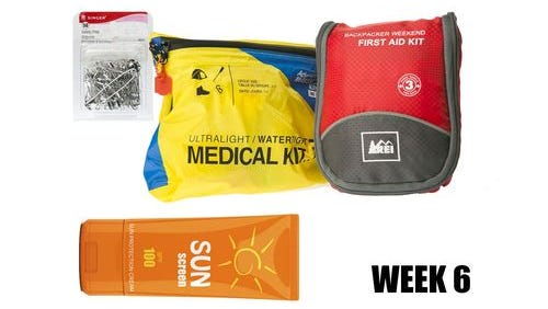 Week 6 of your preparedness kit includes first aid supplies.