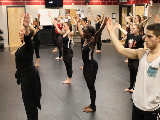 Ruth Andrien teaches master class to SCVTHS gifted and talented dance students