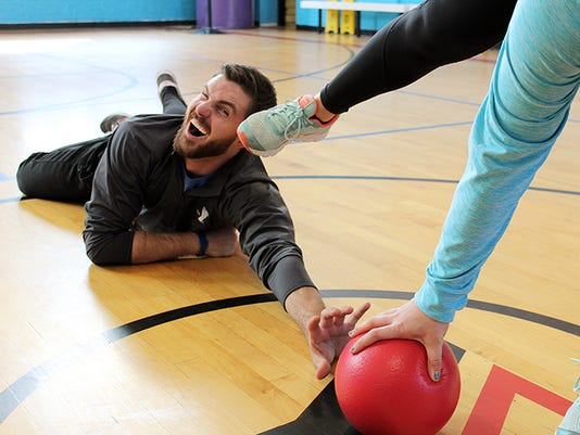Dodgeball at Downtown's YMCA