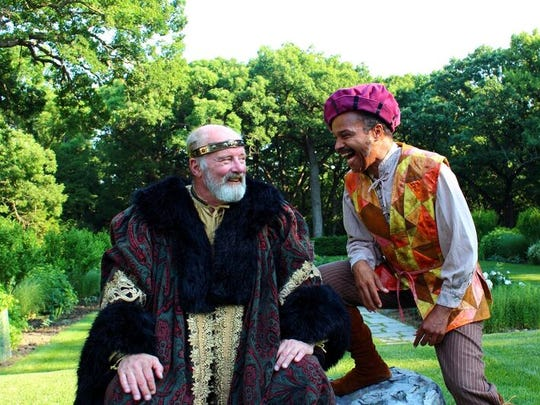 """Richard Maynard (King Lear) and Edward Barker (Fool) are featured in """"King Lear,"""" playing at the Salisbury House Thursday-Sunday, June 16-19, 2016."""