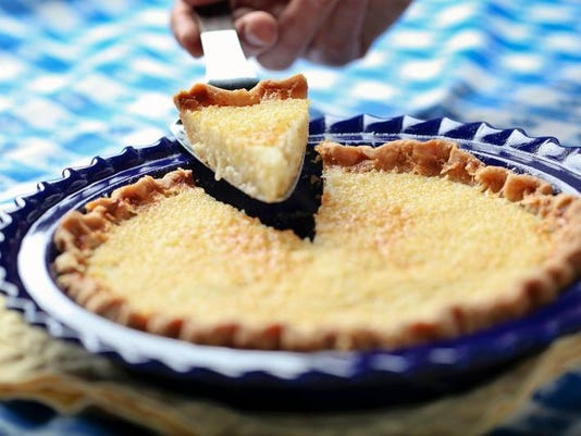 Bourbon buttermilk pie photo