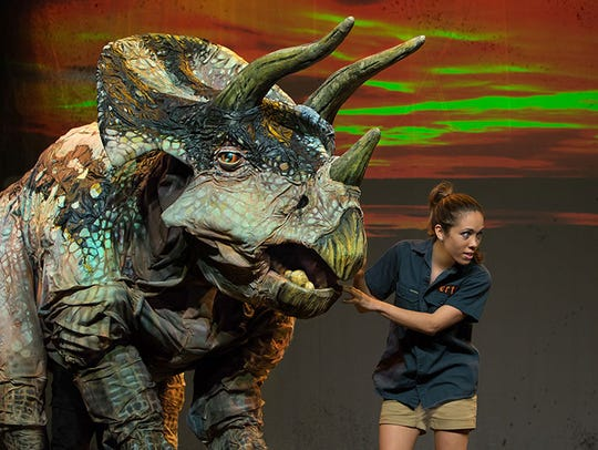 """Erth's Dinosaur Show Live"" appears at the Strand Thursday."