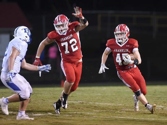 Franklin and Brevard squared off Oct. 13. Franklin won 28-12.