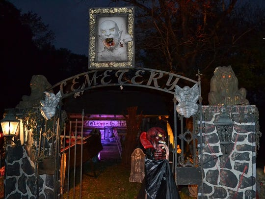 The Red Mill Haunted Village in Clinton.