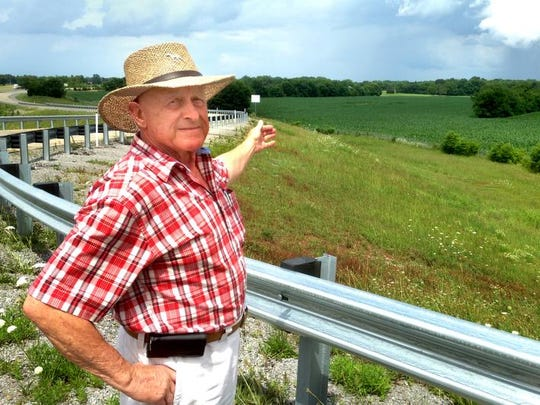 Donald McDonald shows off 82 acres that his family sold to Vanderbilt University Medical Center off Interstate 840 and Veterans Parkway.