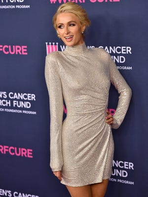 Paris Hilton attends The Women's Cancer Research Fund's 'An Unforgettable Evening' at Beverly Wilshire, A Four Seasons Hotel on Feb. 27, 2020 in Beverly Hills, California.