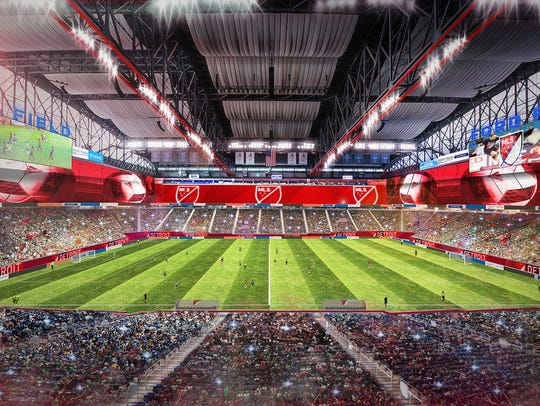 Rendering of Ford Field if it were in use for Major