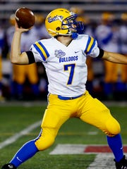 Butler quarterback Evan Smith throws for a TD to receiver