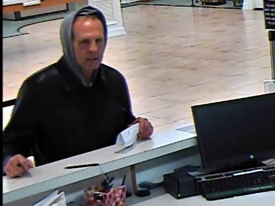 Chambersburg Police are looking for this man in connection to a robbery at M&T Bank which occurred the afternoon of May 8.