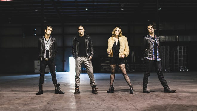 The members of hard-rock band Halestorm, from left: Arejay Hale, Josh Smith, Lzzy Hale and Joe Hottinger