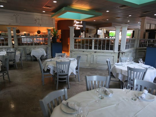 One of the dining areas at Centrale Italian Kitchen
