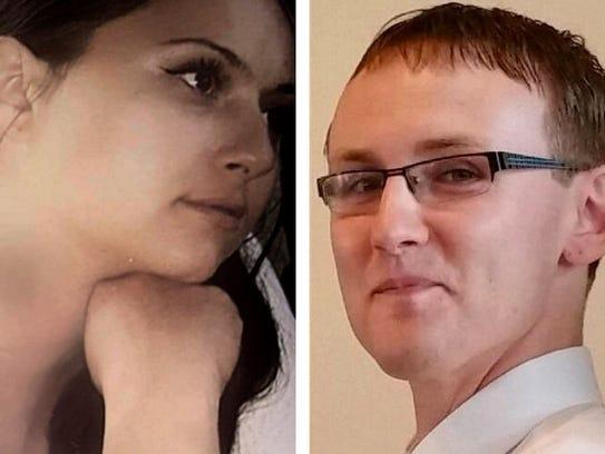 Kristina Fiebrink (left), 38, and Michael Madden, 29,