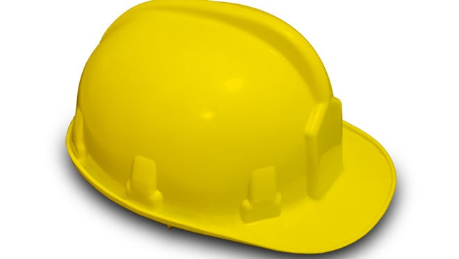 Yellow hardhat.