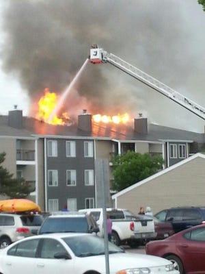 Fire at 4202 W. Valhalla Blvd. on Sunday evening.