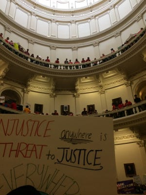The anger over the sanctuary cities legislation sparked loud demonstrations in the Texas Capitol in the last day of the legislative session.