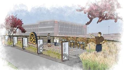 The Downtown Rotary Club Monday will unveil final site plans for its Rotary Centennial Plaza.