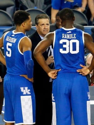 Andrew Harrison (5), Julius Randle (30) and James Young (1) might leave, but John Calipari can expect another revamped roster at Kentucky.