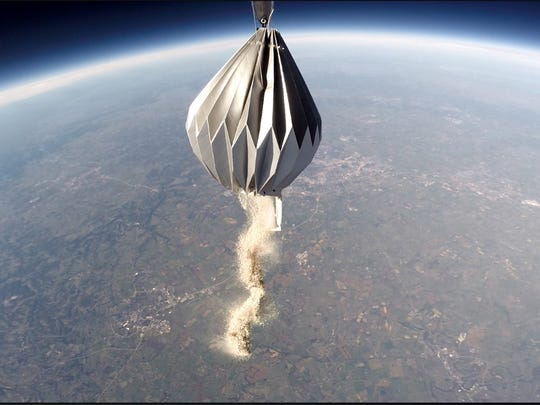 A company in Kentucky will scatter your ashes from 15 miles up via a high-altitude balloon.