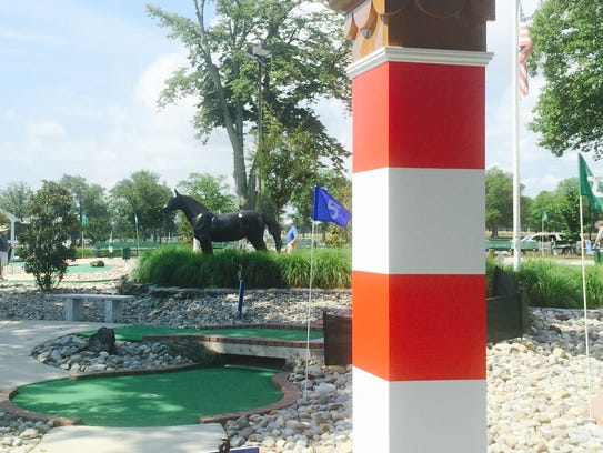 One of the original eighth poles from Monmouth Park,