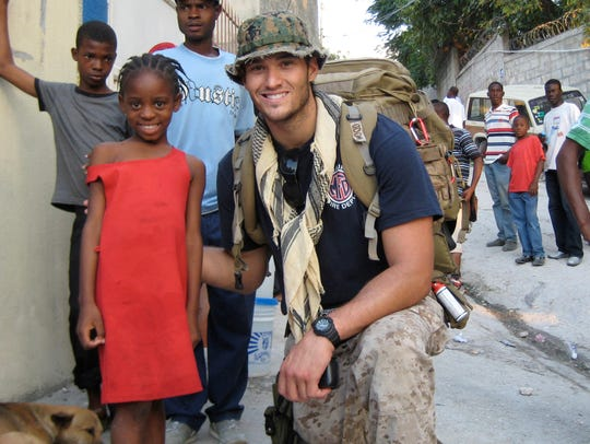Jake Wood on his first day in Haiti in 2011. This photo