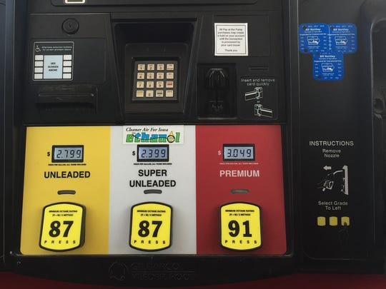 Gas prices are sharply lower nationwide than a year