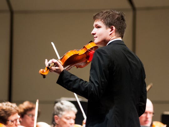 Concertmaster Victor Beyens will be featured in Tchaikovsky