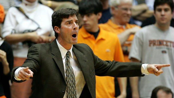 Joe Scott when he was head coach at Princeton in 2005.